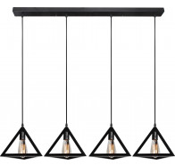 V & M Equator Vintage Triangle 4 Light Black Pendant