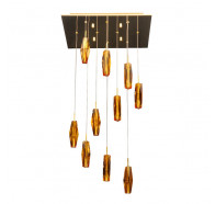 V & M Cubo 10 lights Amber Gold Pendant