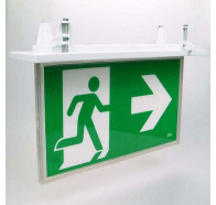 Lumos Blade RC Led Emergency Light Exit Sign Recess Mounted