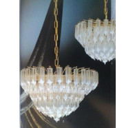 Fiorentino Plaf 55 Gold Glass Chandeliers
