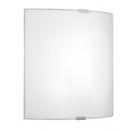 Eglo Grafik Small Plain Opal Glass Wall Light