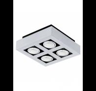 Eglo Loke 1 LED 4 Light Brushed Aluminium Gimble Surface Mounted Ceiling Light
