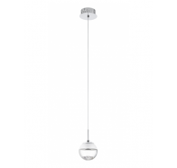 Eglo Montefio 1 Light Chrome & Clear Glass LED Pendant Lights