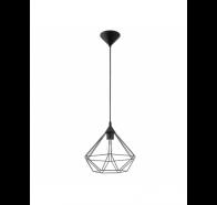 Eglo Tarbes Large 1 Light Black Cage Pendant Light