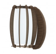 Eglo Stellato 1x60w E27 Timber Wall Light