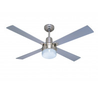 "Martec Alpha Brushed Nickel 1200mm 48"" Ceiling Fan with Clipper Light"