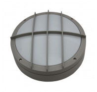 Atom AT5403/LED Large Round Grill Cast LED Bunker Light