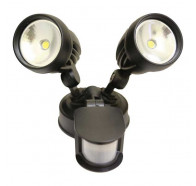 Atom AT9133 20W IP44 Twin Spotlight With Sensor