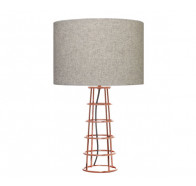 Cougar Beatrice Copper Base Table Lamp with Grey Felt Shade