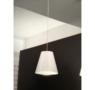 Fiorentino Conus 1 Light LED White Pendant