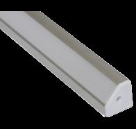 Martec Corner Angle Extrusion to suit Taipan Ribbon 1 Metre Brushed Aluminium