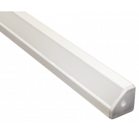Martec Corner Angle Extrusion to suit Taipan Ribbon 1 Metre White