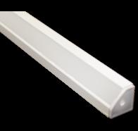 Martec Corner Angle Extrusion to suit Taipan Ribbon 1 Metre White