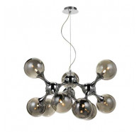 Telbix Cosmic Chrome & Smoked Glass 9 Light Pendant Light