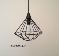 Fiorentino Firma 1 Light Black Frame Pendant