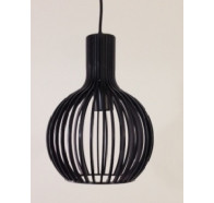 Fiorentino Guarin Small 1 Light Wood Pendant