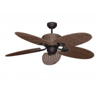 "Martec Hamilton 1300mm (52"") Old Bronze 5 Palm Leaf Blade Ceiling Fan"