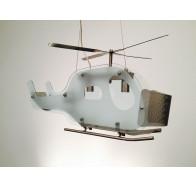 Fiorentino HL9656 Helicopter 3 Light Satin Chrome Pendant