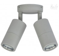 Havit HV1347 GU10 240v Matte Sliver Double Adjustable Wall Pillar Light