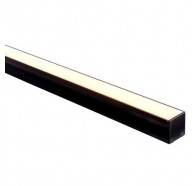 Havit HV9693-3537-BLK 3 Metre Black Aluminium Deep Square LED Profile with Opal Diffuser