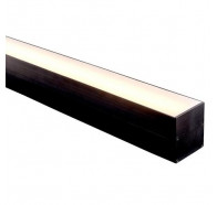 Havit HV9693-6070-BLK 1 Metre Black Aluminium Slimline Deep Square LED Profile with Opal Diffuser