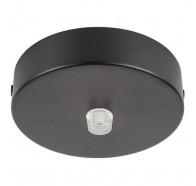 Havit HV9705-9025 90mm Surface Mounted Black Round Canopy