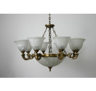 Fiorentino MX959 Antique Brass 7 Light Pendant