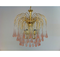 Fiorentino Mestre 5 TD Flower Drop Chandelier in Gold