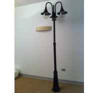 Fiorentino EPL 3112 2 Light Post in Black Color