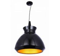 Fiorentino Kasko 1 Light Black Aluminium Pendant