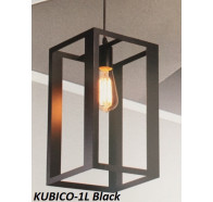 Fiorentino Kubico 1 Light Black Frame Pendant