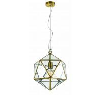 Telbix Lazlo Small Antique Brass Pendant Light