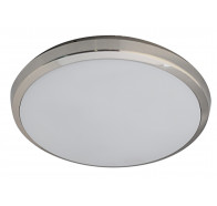 Martec Lunar Brushed Nickel 28W LED 3000K Dimmable Oyster Light