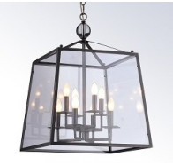 8 Light Glass Pendant Light