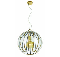 Telbix Medina Large Antique Brass Pendant Light