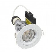 Martec Primary GU10 9W LED Fixed Downlight Kit, 60° (White) Cool White Light