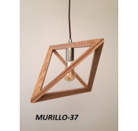 Fiorentino Murillo 1 Light  Timber Veneer Pendant