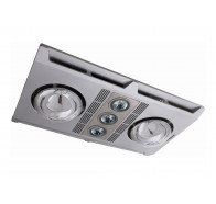 Martec Profile Plus 2 Silver LED Bathroom 3-In-1 Heat Light Exhaust Fan