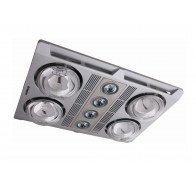 Martec Profile Plus 4 Silver LED Bathroom 3-In-1 Heat Light Exhaust Fan