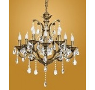 Fiorentino Rivoli 10 Light Bronze Crystal Chandelier