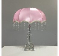 Fiorentino Seatle Table Lamp with Pink Shade