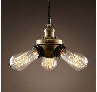 Fiorentino Single 3 Light Black Brass Pendant