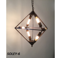 Fiorentino Soley 6 Lights Brown Diamond Shape Pendant
