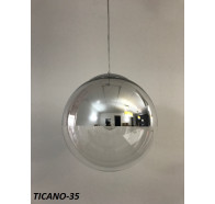 Fiorentino Ticano 1 Light Two Tone Chrome And Clear Glass Pendant Chrome Suspension