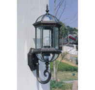 Fiorentino Tower-Black 1 Light Exterior Coach Wall Light