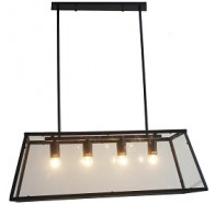4 Light Matt Black Pendant Light