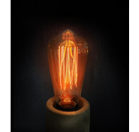 Pear 240V Carbon Filament Lamps