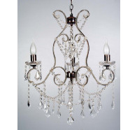 V & M Venice 3 Lights Clear Crystal Pendant Lights in Gold
