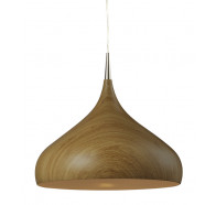 CLA Zara Dome Pendant in Oak Wood