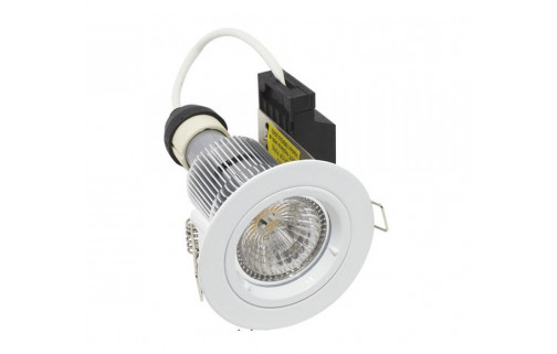Martec Primary GU10 9W LED Fixed Downlight Kit, 60° (White) Dimmable Cool White Light